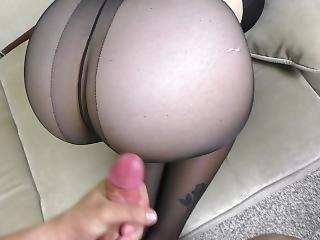 Teen Big Ass In Nylon Pantyhose Orgasm Pussyjob