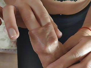 Schoolgirl Handjob And Foreskin Play 4k