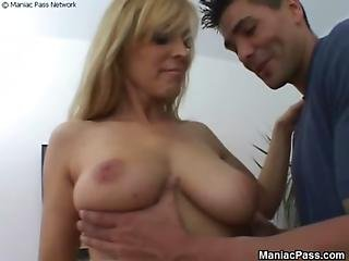Slutty Teacher Takes Hairy Cock