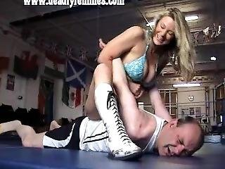 Blonde In Bikini Wrestling 2