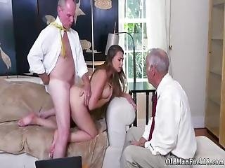 Old Man Gang Bang Ivy Impresses With Her Giant Funbags And Ass