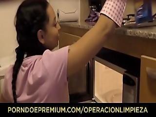 Operacion Limpieza - Petite Colombian House Maid Matilde Ramos Pounded
