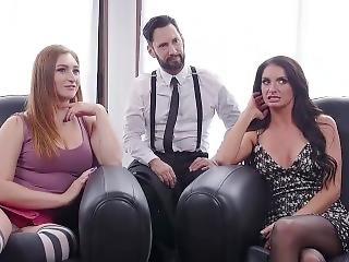anal, bondage, brusque, sexe, neige, trio