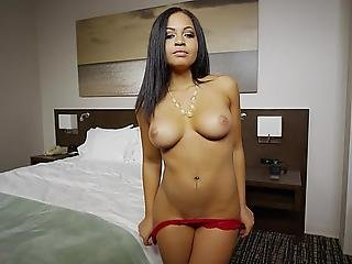 Brunette Sweety With Beautiful Tits Fucking On Camera