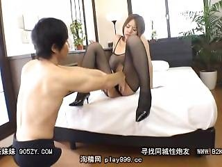 Ruri Saijou-sexy Body Stockings