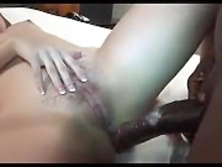 Pale Redhead gets Creampied by Big Black Cock