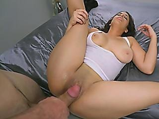 Busty Brunette With Big Booty Slammed Very Hard