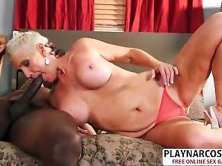Natural Tits Step-mom Lexy Cougar Gives Handjob Hot Touching Step Son