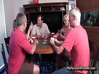 Some Neighborhood Friends Get Together To Play Cards The Winner Gets To Pick What Somebody Else Does So, Pussy Licking, Blowjobs And Even A Girl On Girl Sixty Nine Are Some Of The