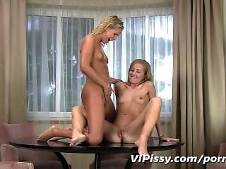 Pee Loving Lesbians Get Wet And Naughty