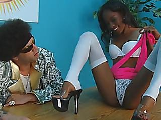Skinny Ebony Babe Dariel Dukes Banged By Her Stiff Cock Video Producer