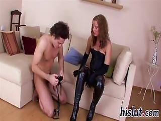 Horny Dude Gets Nailed With A Strap On