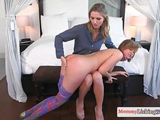 Glam Stepmom Scissors With Teen After Oral