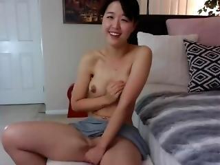 asiat, babe, dildo, koreansk, alene, lejetøj, webcam, ung
