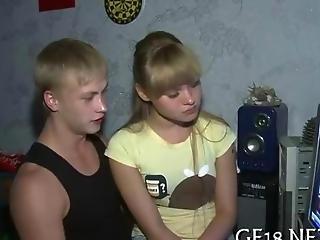Blonde Russian Teen Spreads Legs Wide Open