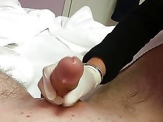 Asian Lady Waxing And Massaging Make Dick Cum