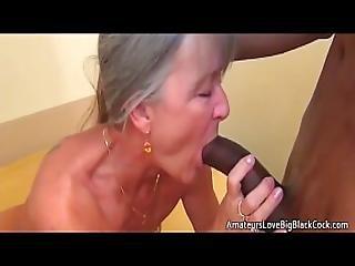 Grey Haired Granny Enjoys Big Black Cock