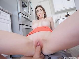 Fucking My Stepmoms Pussy In The Kitchen
