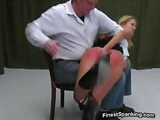 Short Haired Slut Spanked Raw