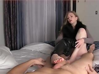 Mistress T Blowjob Foot In Face
