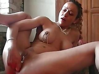 I Am Pierced Milf With Nipple Piercings Stuffing Her Ass