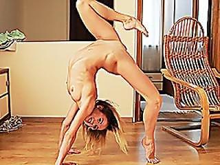 akrobatisk, amatör, deepthroat, flexibel, spinking, Tonåring, yoga