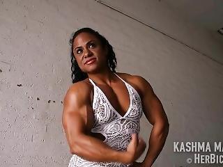 Female Bodybuilder Kashma Marahaj Super Jacked