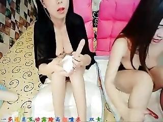 Double Chinese Cam Girl Masturbation