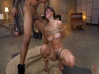 Anal Whore Kendra Spade Tied In Bondage%2C Made To Fuck Enormous Dick%21
