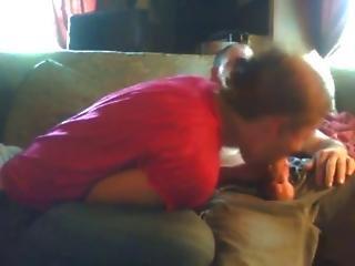 Redhead And Cum Kiss