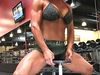 Fitness Woman Working Out In Gym