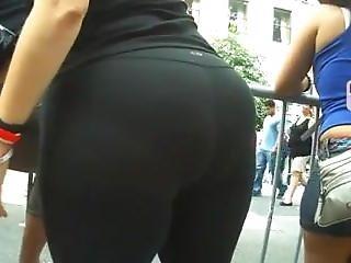 Candid Fat Ass Legging At Parade