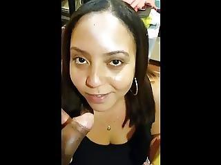 Amateur Latina Tease Lick Cock Dominican Cumshot Facial