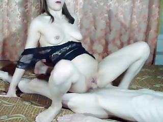 Cowgirl Fuck In Long Nude Dress