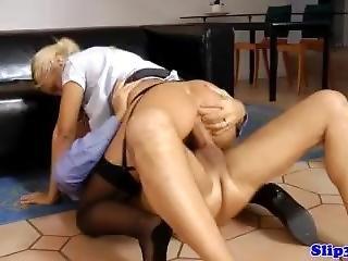 European Amateur Jerking Old Guy Before Cum