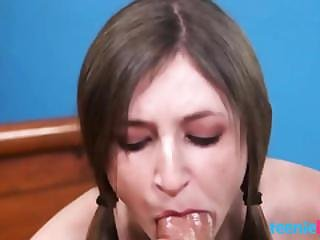 Teen Girl Sucks Cock For The First Time