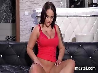Attractive Czech Peach Is Stretching Hairless Slit And Inserts Pussy Pump Intense Inside Having The Best Climax