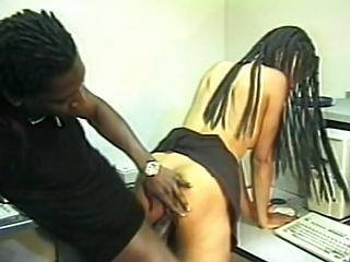 Naughty Black Slut Tastes Huge Black Cock