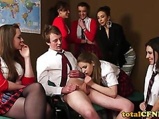 Blowjob, British, Cfnm, European, School, Uniform