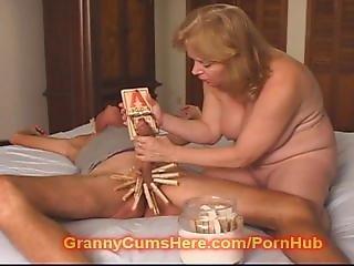 Mean Granny Makes Him Bitch