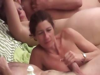 amatör, strand, avsugning, hårdporr, offentligt, sex