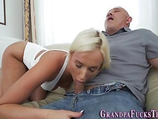Hot Teenager Fucks Gramps