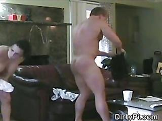 Cheating Housewife Takes Cumshots On Hidden Camera