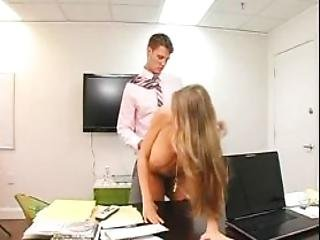 Splendid Busty Milf Nailed In Her Bald Slick Twat At Work