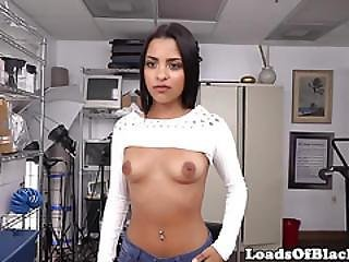 Tattooed Casting Babe Nailed With Black Cock