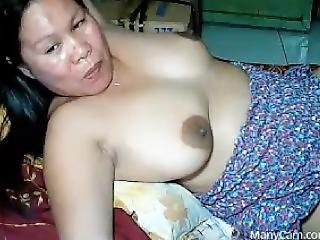 amatoriale, asiatica, tette grandi, filippina, matura, mamma, da sola, webcam