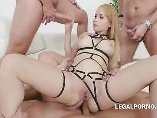 Big Ass Teen 5 On 1 Balls Deep Anal Dap Tp Gape Airplane
