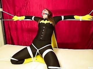 Rachel Adams Batgirl Ballgagged