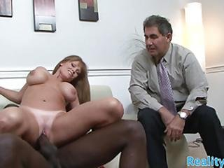 Busty Mature Slut Cuckolds Hubby With Bbc