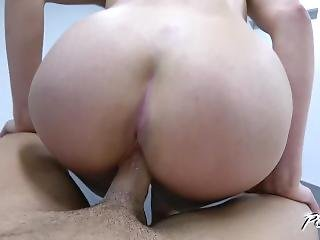 Curly Blonde Getting Crazy When Huge Dick Slide In Her Tight Pussy